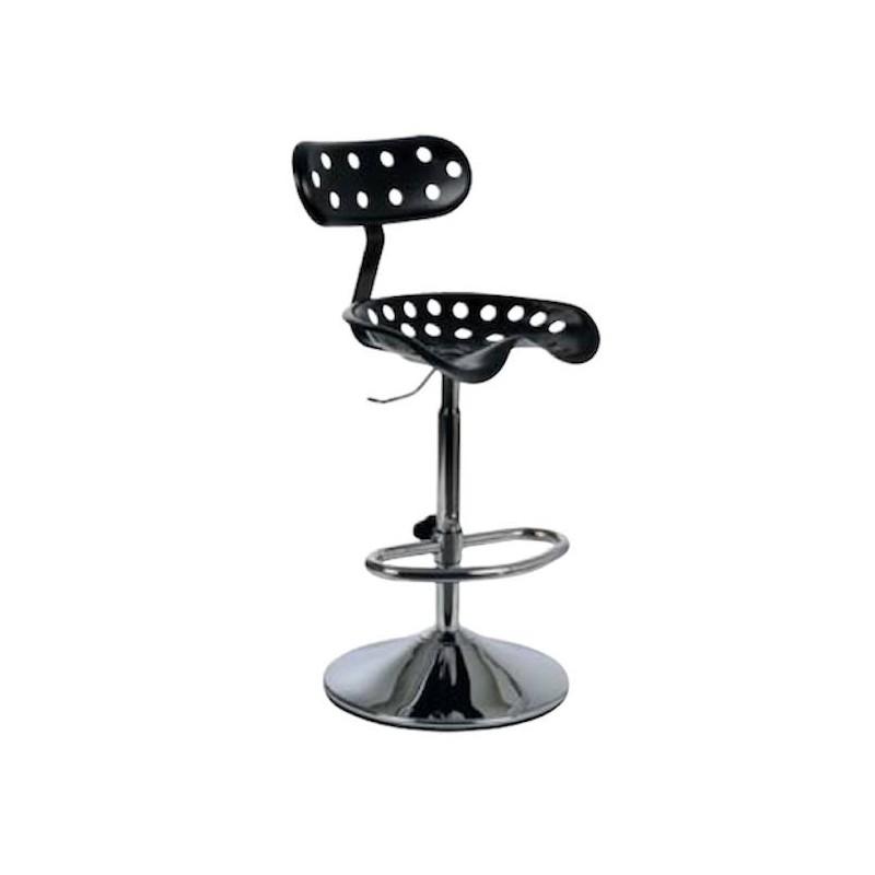 tabouret sur socle design avec repose pieds. Black Bedroom Furniture Sets. Home Design Ideas