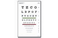 Test d'acuité visuel de Snellen à 3m (23x35,5cm)