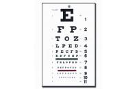Test d'acuité visuel de Snellen à 6 m (28x56 cm)
