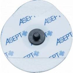 Lot de 1200 électrodes ECG Asept Inmed à pression, gel liquide