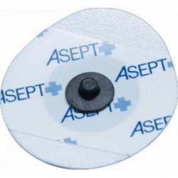 Lot de 1200 électrodes ECG Asept Inmed rondes adulte / enfant