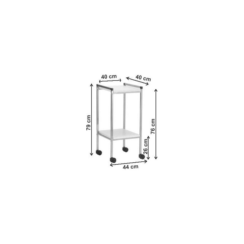 Gu ridon laqu 2 plateaux stratifi 400x400mm 2 tiroirs for Stratifie laque