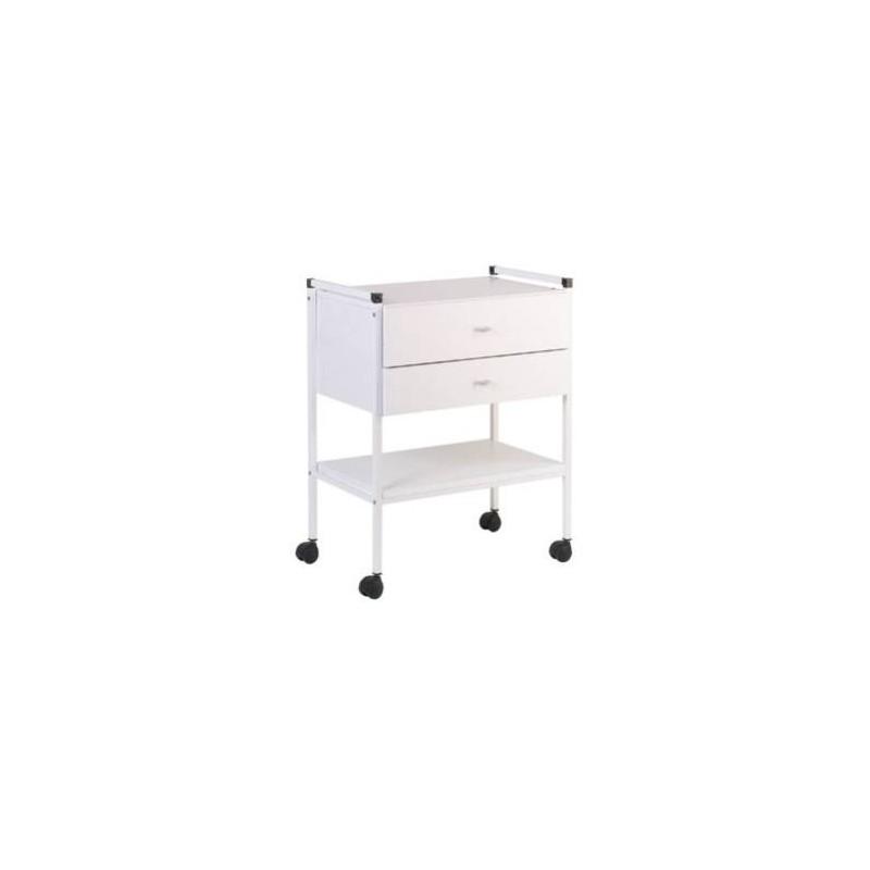 gu ridon laqu 2 plateaux stratifi 600x400mm 2 tiroirs. Black Bedroom Furniture Sets. Home Design Ideas