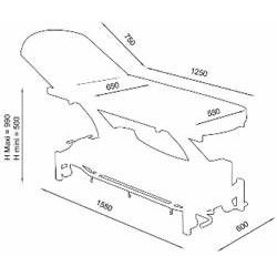 Table de kinésithérapie électrique 2 plans