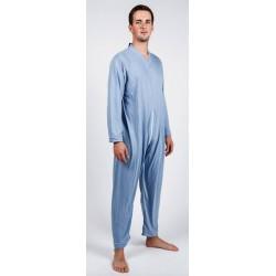 Pyjama de soin grenouillère avec fermeture éclair dans le dos