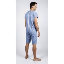 Body à manches courtes, jambes courtes avec fermeture éclair au dos et entre les genoux