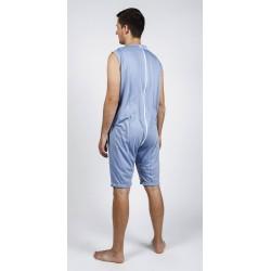Body sans manches, jambes courtes et longue fermeture éclair au dos