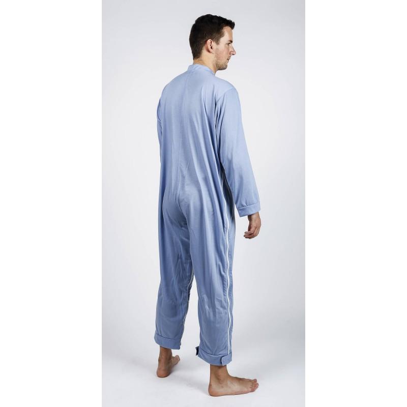 pyjama de soin grenouill re avec fermeture clair entre jambes et fermeture clair lat rale. Black Bedroom Furniture Sets. Home Design Ideas