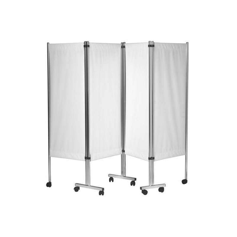 paravent mobile 4 panneaux inox. Black Bedroom Furniture Sets. Home Design Ideas