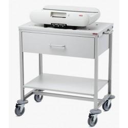 Chariot pour pèse-bébés avec tiroir et étagère Seca 403