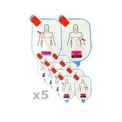 5 Paires d'électrodes adulte de Formation (DDP-105-TR) DEFIBTECH