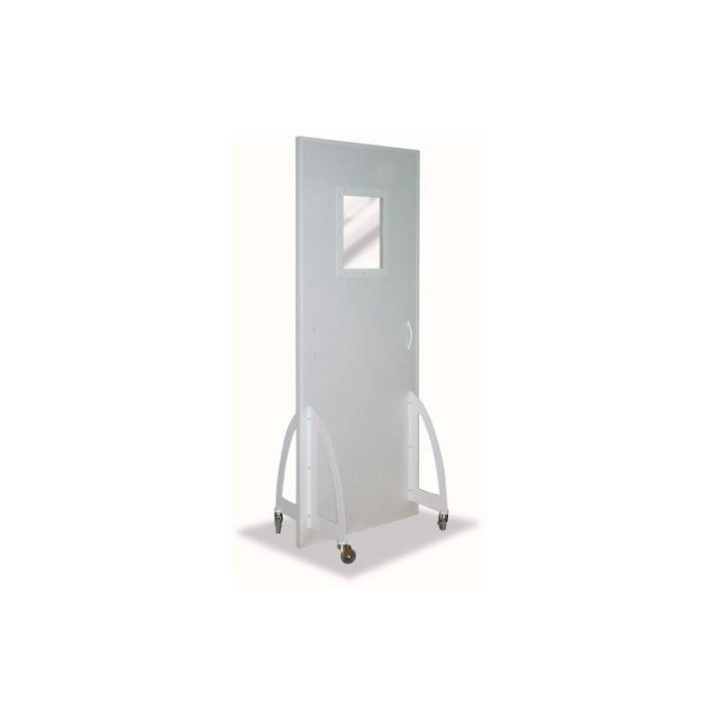 Paravent mobile plombé avec vitre