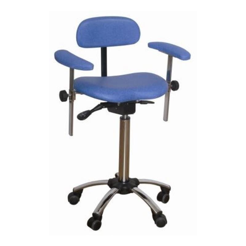 Tabouret r glable assis debout avec dossier et accoudoirs vog medical - Tabouret medical avec dossier ...