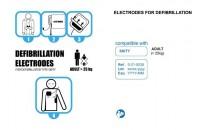 """Electrodes pré-connectées """"Adulte"""" pour défibrillateur SKITY Schiller"""