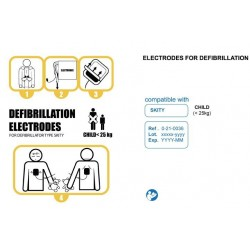 """Electrodes pré-connectées """"Enfant"""" pour défibrillateur SKITY Schiller"""