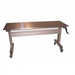 Table inox ergonomique hauteur réglable