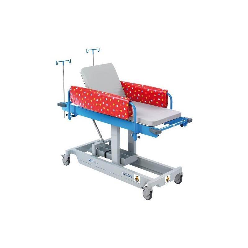 Brancard pédiatrique  hauteur variable hydraulique
