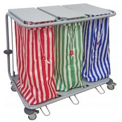 Chariot à linge 3 sacs