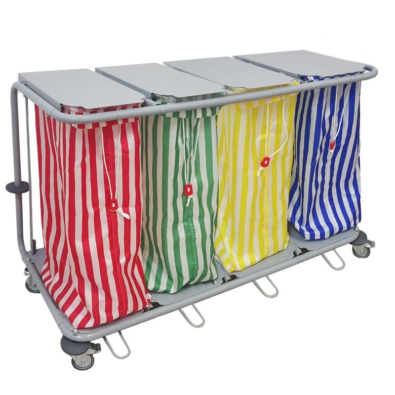 chariot linge 4 sacs teamalex medical technologies. Black Bedroom Furniture Sets. Home Design Ideas