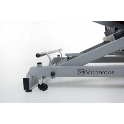 Table d'examen hydraulique roulettes escamotables Mobercas