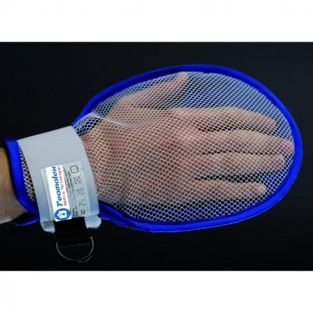 Moufle de protection rigide en coton et fibres siliconées