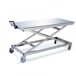 Table inox hauteur variable