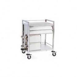 Chariot d'urgence inox 4 tiroirs