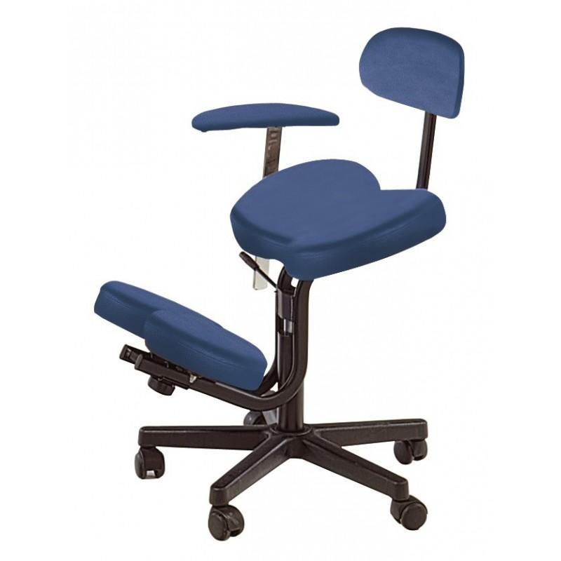 tabouret assis genoux avec dossier et accoudoir amovible. Black Bedroom Furniture Sets. Home Design Ideas