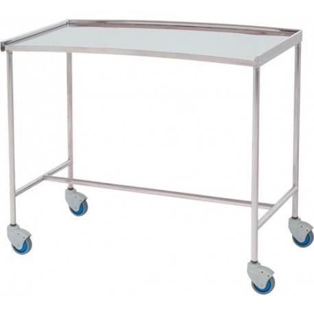 Table à instruments inox forme haricot