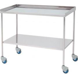 Table à instruments chirurgicaux bords relevés