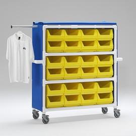 Chariot de distribution avec housse en tissu Textilene