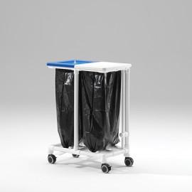 Collecteur à déchets 2 sacs