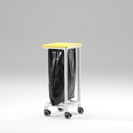 Collecteur à déchets à roulettes