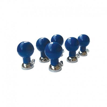 Electrodes précordiales, poire bleue (par 6) pour ECG