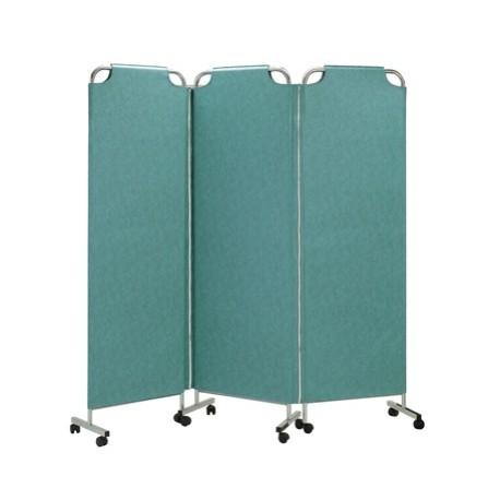 Paravent médical mobile 3 panneaux couleur