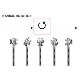 Bavolet Anti-X simple articulation sans rail porte accessoires avec protection haute amovible