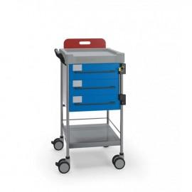 Chariot d'urgence 3 tiroirs
