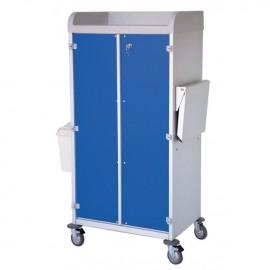 Chariot modulaire capacité 9 bacs 600x400x100mm