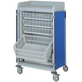 Chariot modulaire capacité 7 bacs dim. 740 x 535 x H1190