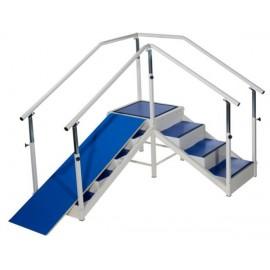 Escalier avec angle modulable