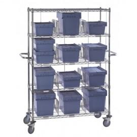Chariot à casiers hauteur 4 casiers