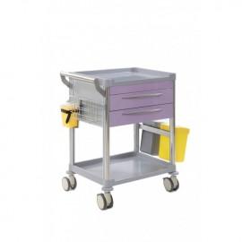 Chariot de soins 2 tiroirs