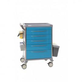 Chariot de soins 5 tiroirs