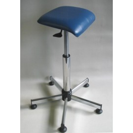 Tabouret médical assis-debout acier chromé