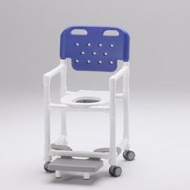 Chaise de douche lunette ergonomique et repose pieds