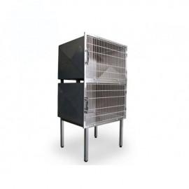 Cage vétérinaire 2 compartiments