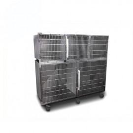 Cage vétérinaire 5 compartiments