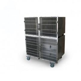 Cage vétérinaire 4 compartiments