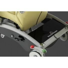 Blocage centralisé des roues arrières (Ø 150mm) par pédales