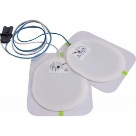 Electrodes adultes pré-connectées pour défibrillateurs Saver One (la paire)